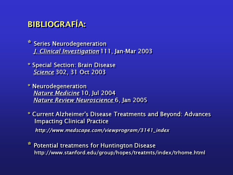 * Series Neurodegeneration