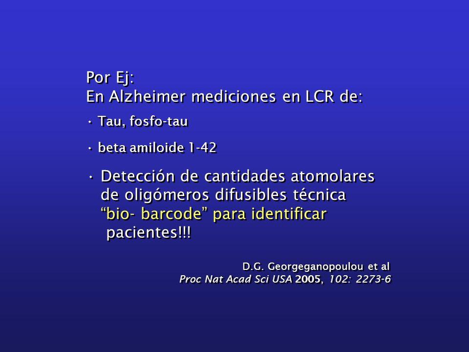 En Alzheimer mediciones en LCR de: