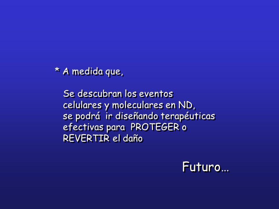 Futuro… * A medida que, Se descubran los eventos