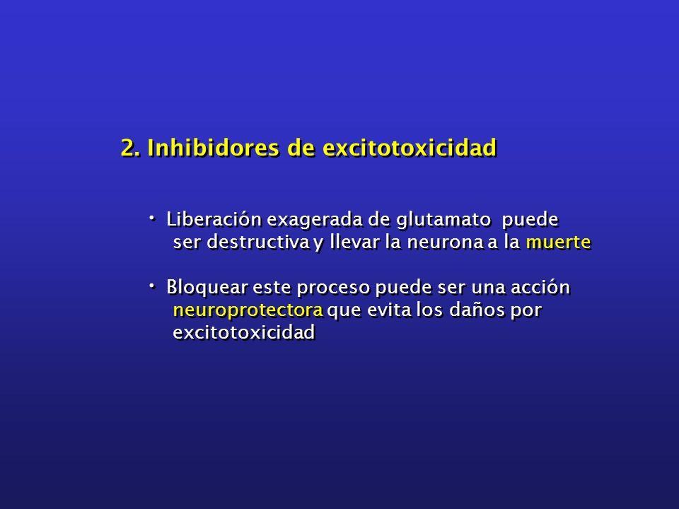 2. Inhibidores de excitotoxicidad