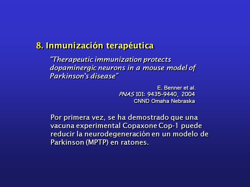 8. Inmunización terapéutica