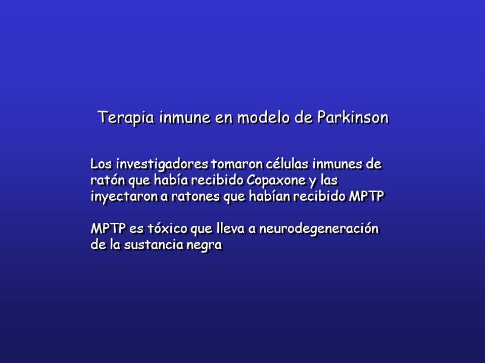 Terapia inmune en modelo de Parkinson