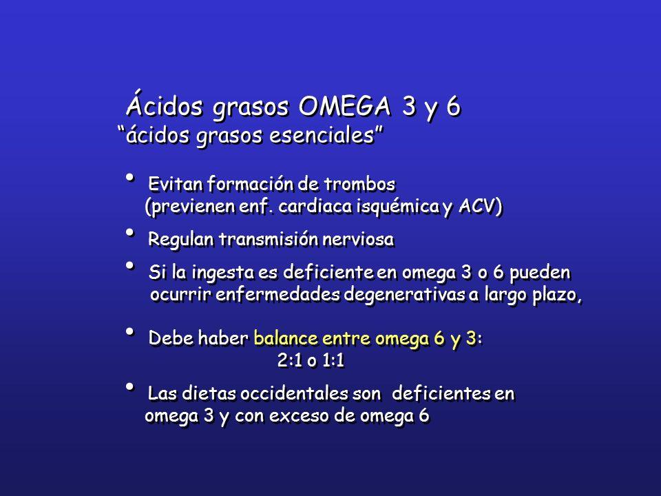 Ácidos grasos OMEGA 3 y 6 ácidos grasos esenciales