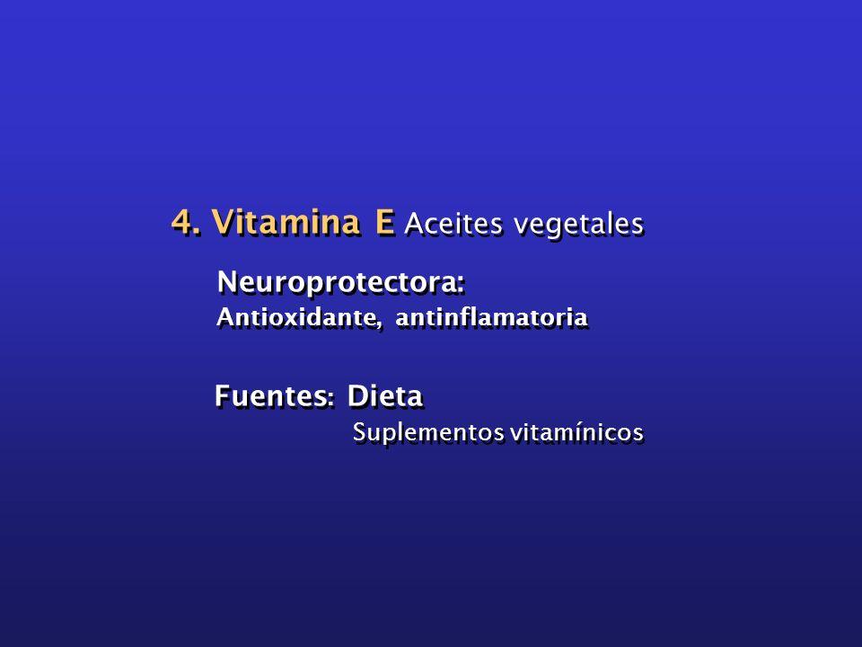 4. Vitamina E Aceites vegetales