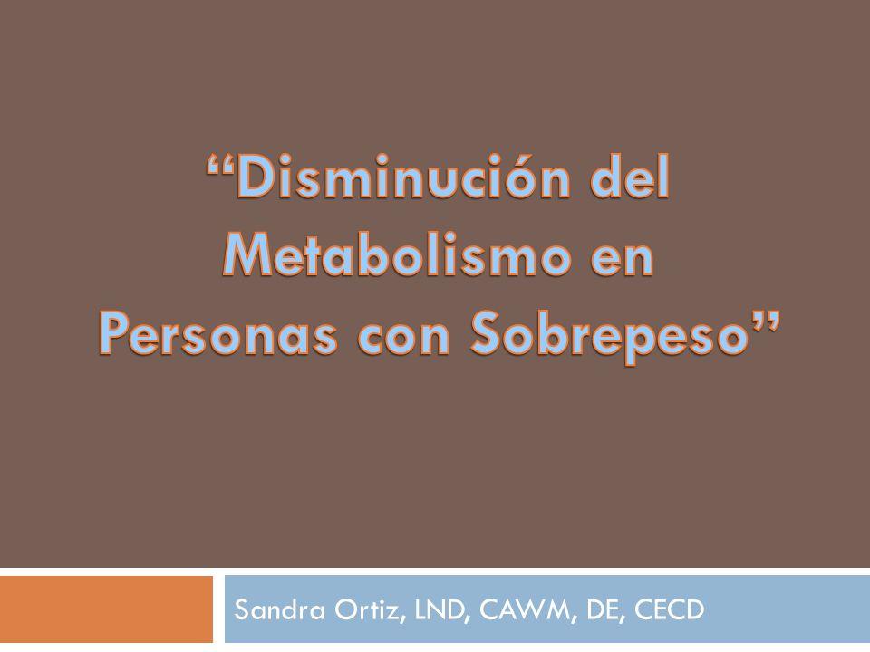 Sandra Ortiz, LND, CAWM, DE, CECD