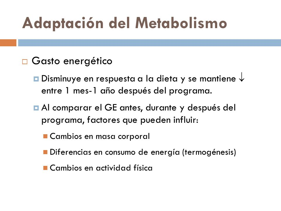 Adaptación del Metabolismo