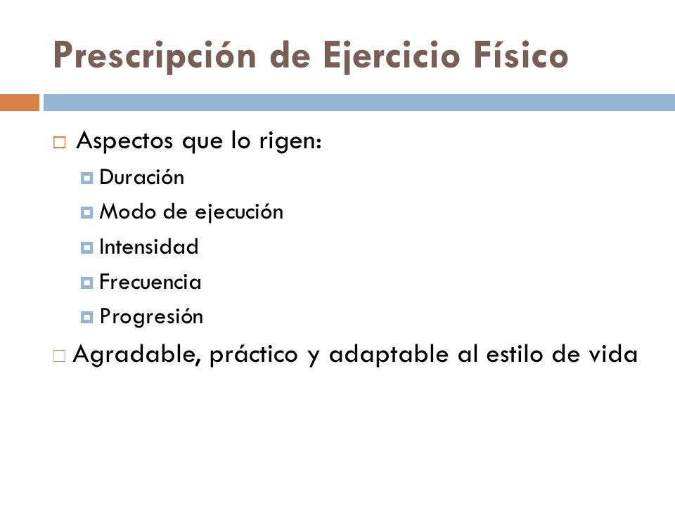 Prescripción de Ejercicio Físico