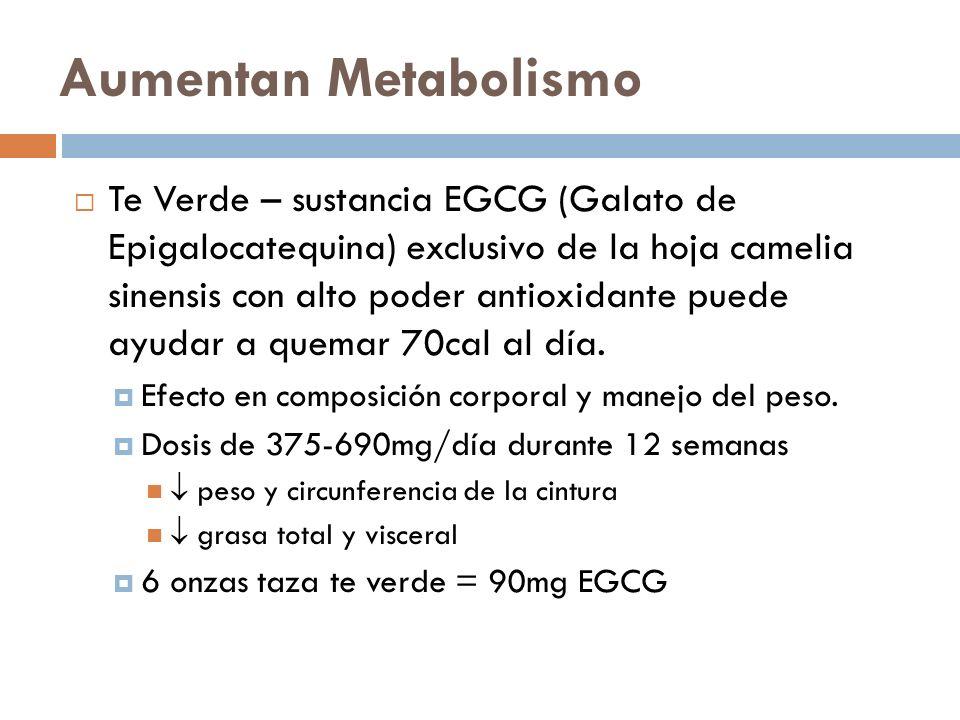Aumentan Metabolismo