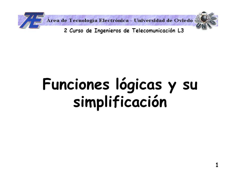Funciones lógicas y su simplificación