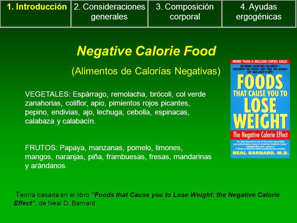 Negative Calorie Food (Alimentos de Calorías Negativas)
