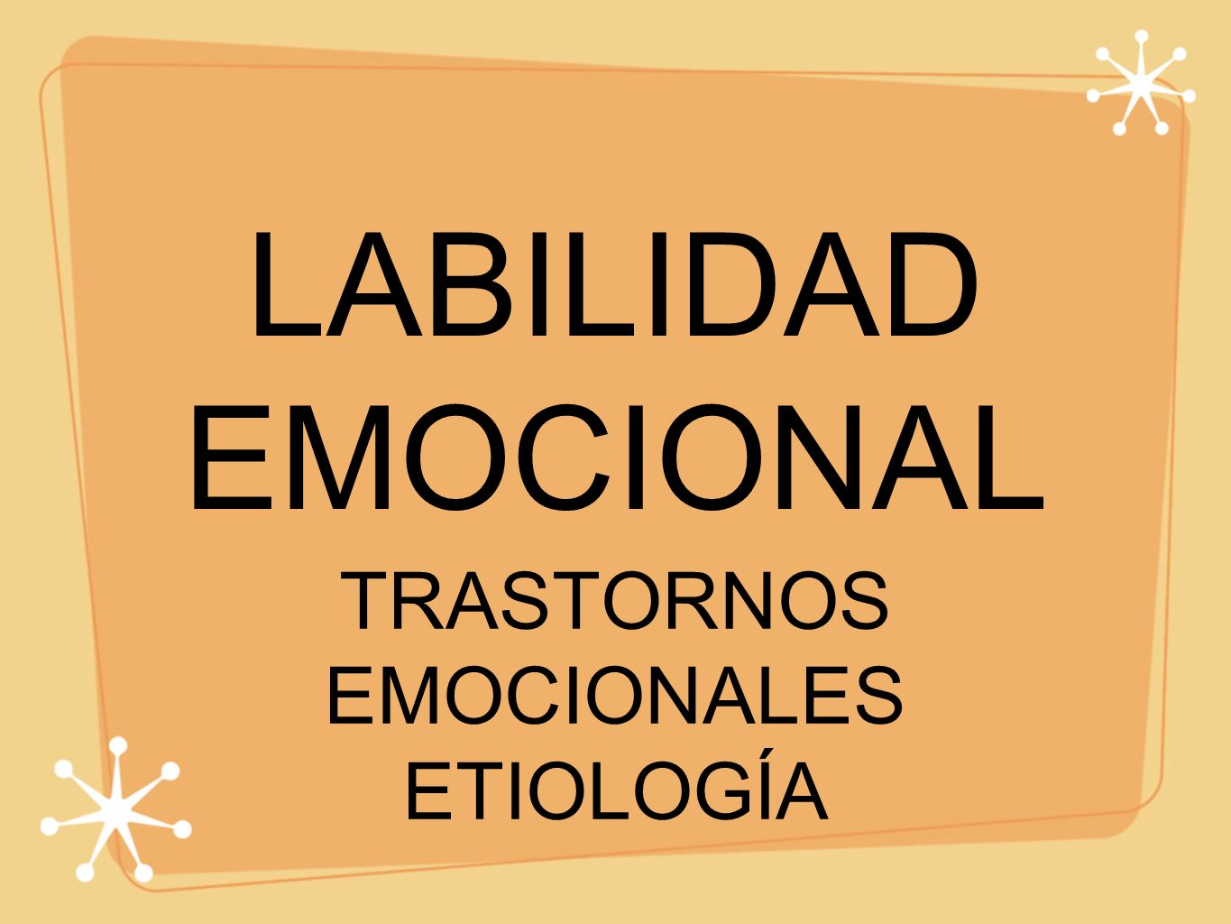 TRASTORNOS EMOCIONALES