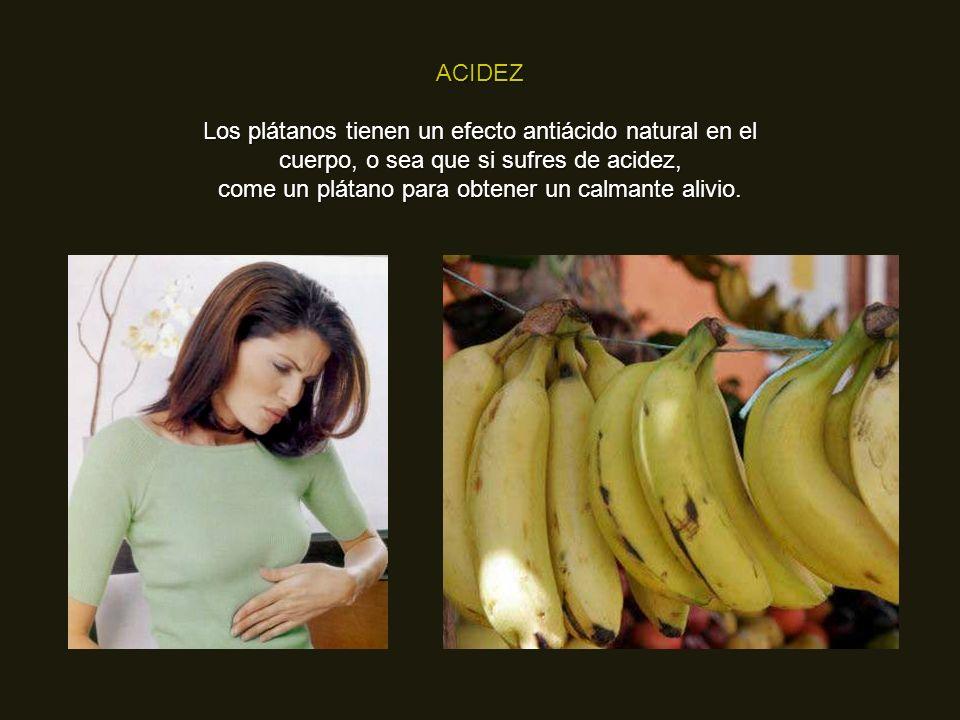 come un plátano para obtener un calmante alivio.