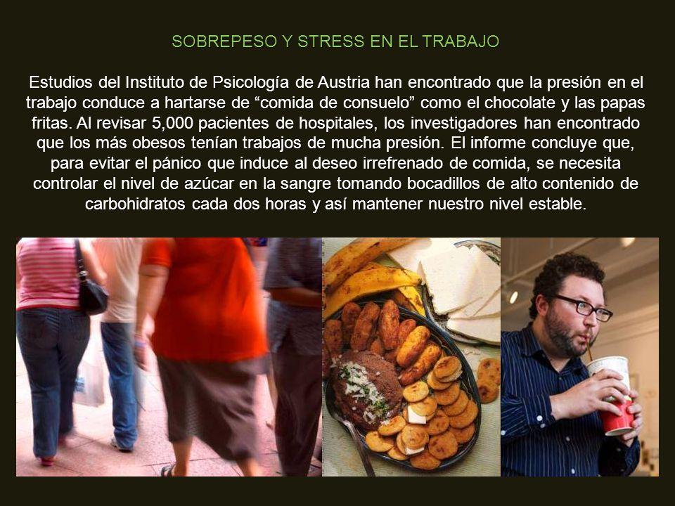 SOBREPESO Y STRESS EN EL TRABAJO