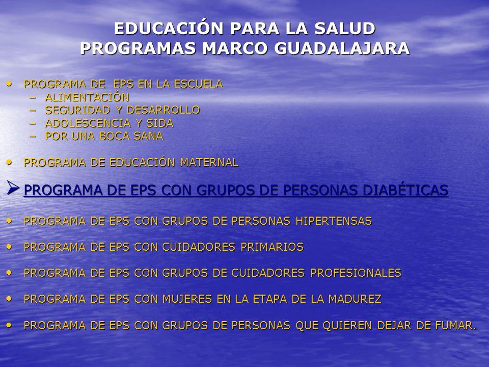EDUCACIÓN PARA LA SALUD PROGRAMAS MARCO GUADALAJARA