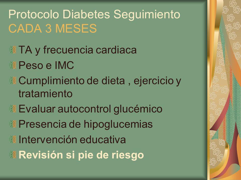 Protocolo Diabetes Seguimiento CADA 3 MESES