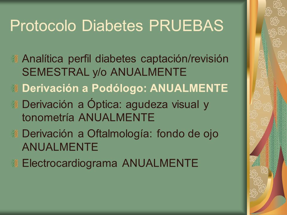 Protocolo Diabetes PRUEBAS