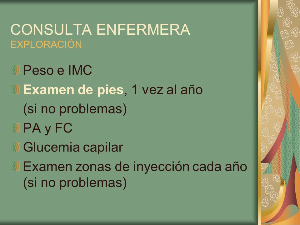 CONSULTA ENFERMERA EXPLORACIÓN