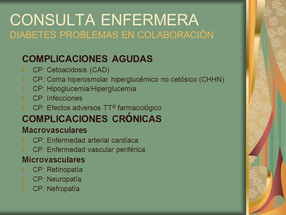 CONSULTA ENFERMERA DIABETES PROBLEMAS EN COLABORACIÓN