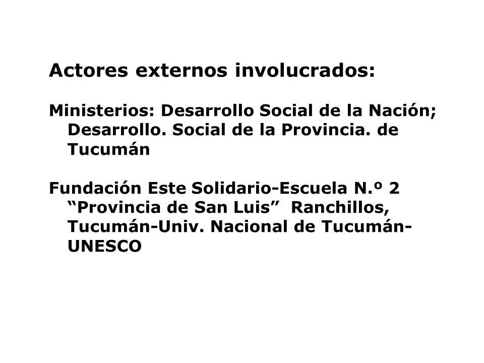 Actores externos involucrados:
