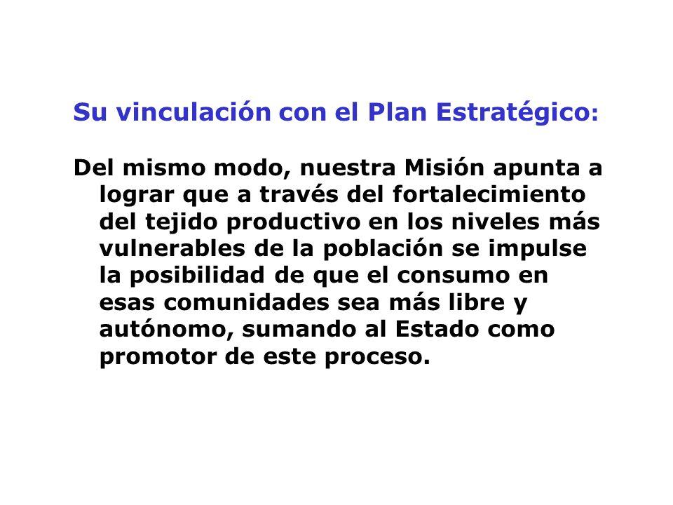 Su vinculación con el Plan Estratégico: