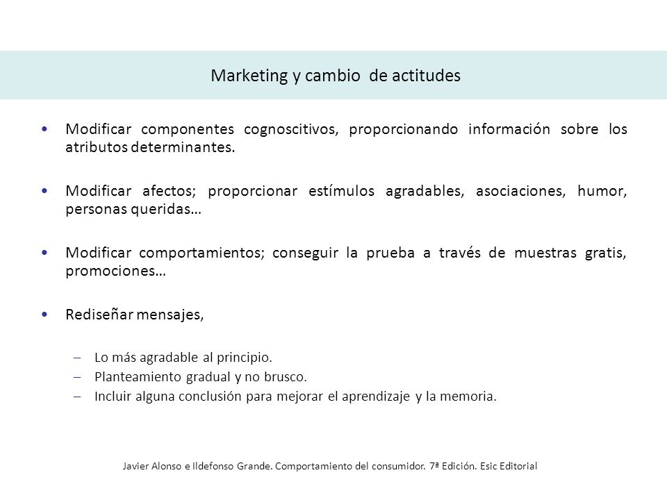Marketing y cambio de actitudes