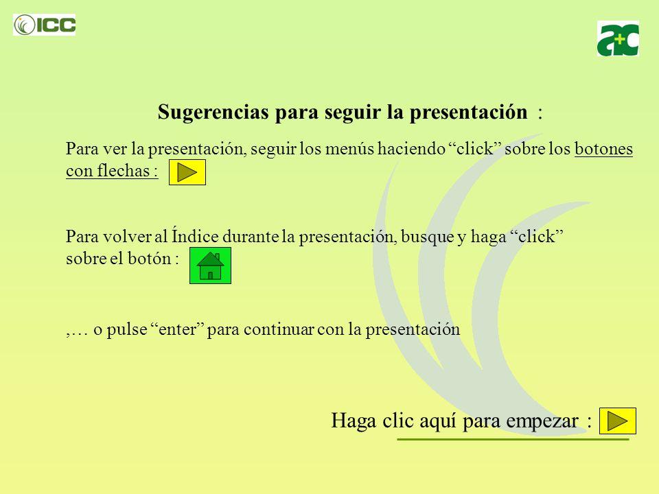 Sugerencias para seguir la presentación :