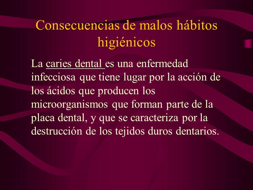 Consecuencias de malos hábitos higiénicos