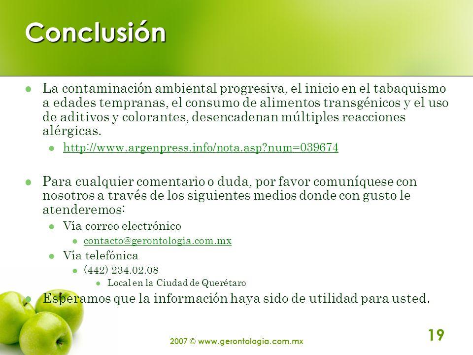 2007 © www.gerontologia.com.mx