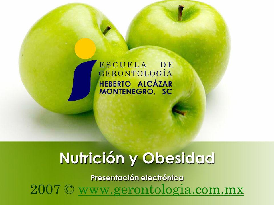 Nutrición y Obesidad Presentación electrónica