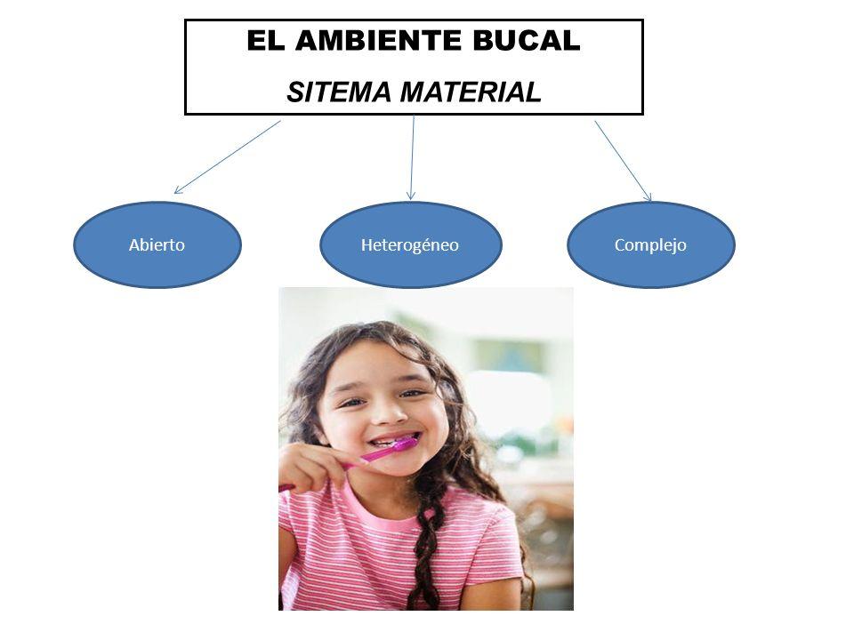 EL AMBIENTE BUCAL SITEMA MATERIAL Abierto Heterogéneo Complejo