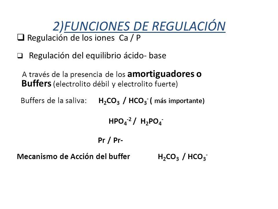 2)FUNCIONES DE REGULACIÓN