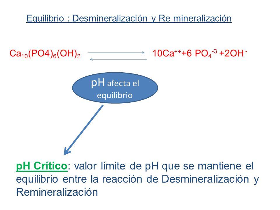 pH afecta el equilibrio