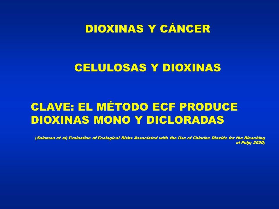 CLAVE: EL MÉTODO ECF PRODUCE DIOXINAS MONO Y DICLORADAS