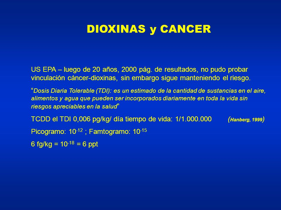 DIOXINAS y CANCER