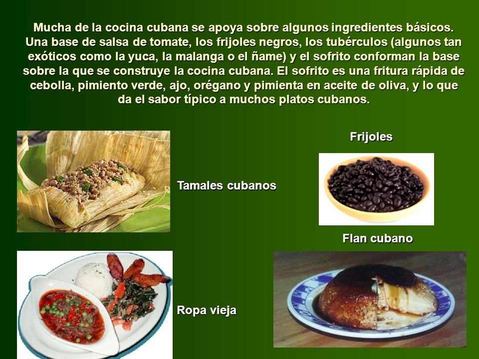Mucha de la cocina cubana se apoya sobre algunos ingredientes básicos