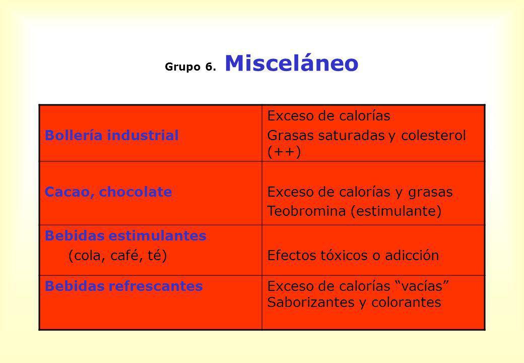 Grasas saturadas y colesterol (++)