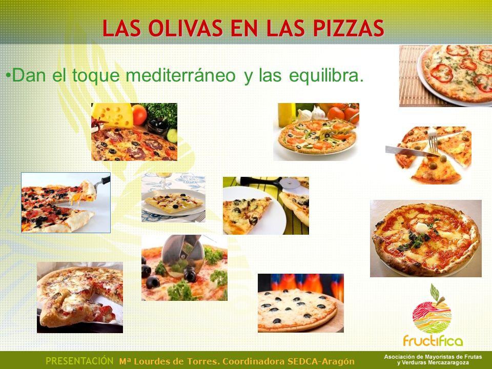 LAS OLIVAS EN LAS PIZZAS