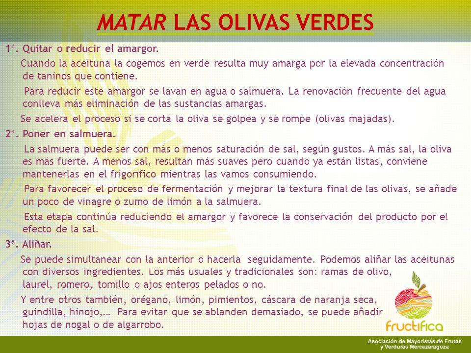 MATAR LAS OLIVAS VERDES