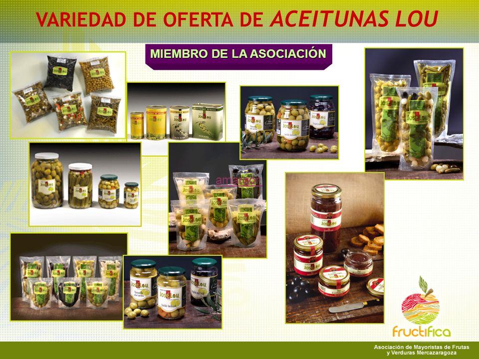 VARIEDAD DE OFERTA DE ACEITUNAS LOU