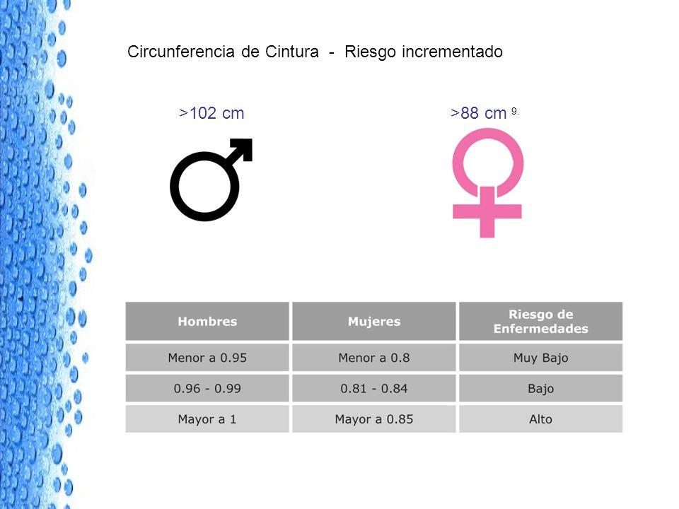 Circunferencia de Cintura - Riesgo incrementado