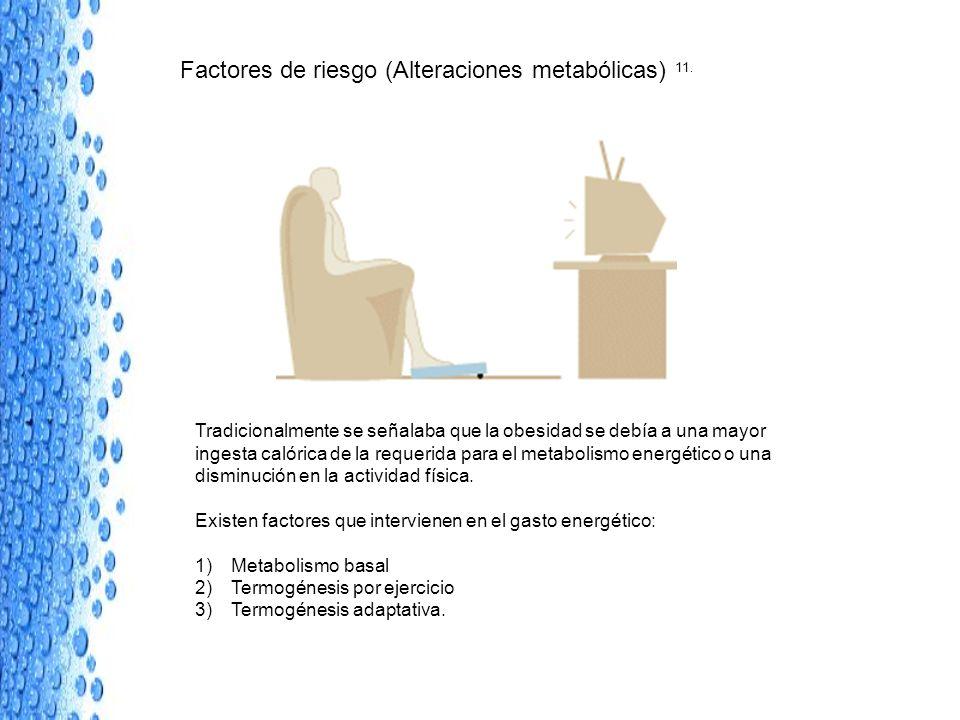 Factores de riesgo (Alteraciones metabólicas) 11.