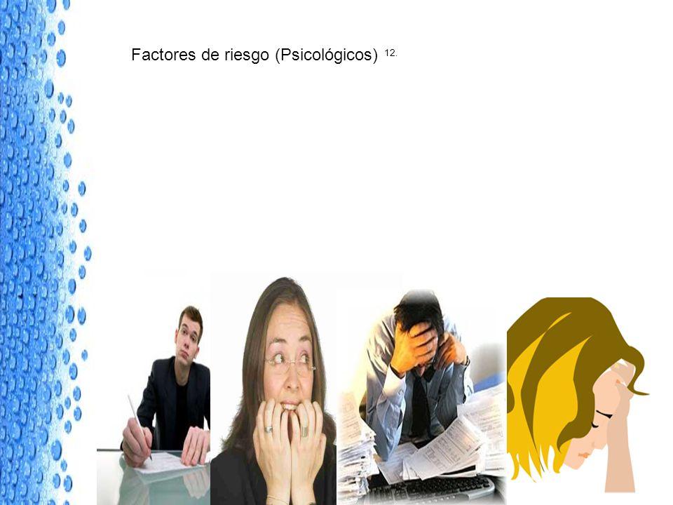 Factores de riesgo (Psicológicos) 12.