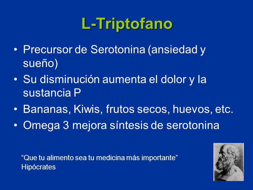 L-Triptofano Precursor de Serotonina (ansiedad y sueño)