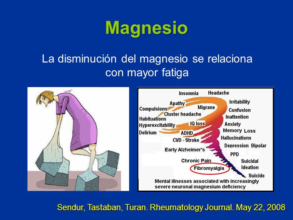 La disminución del magnesio se relaciona