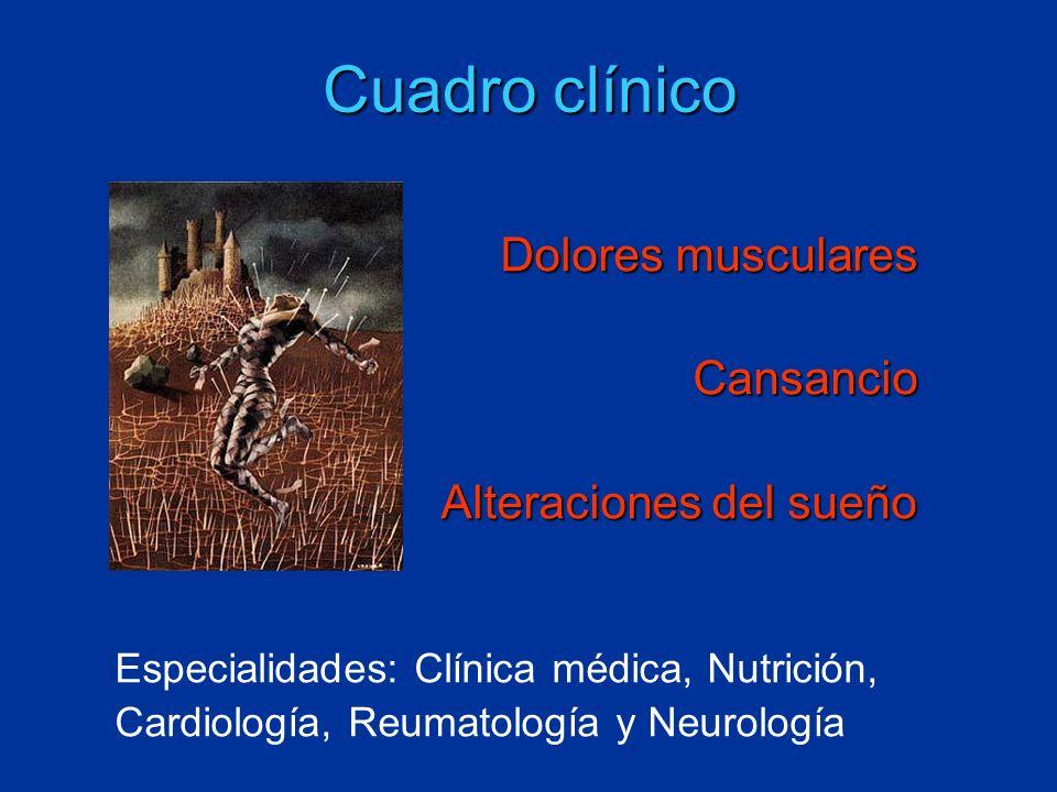 Cuadro clínico Dolores musculares Cansancio Alteraciones del sueño
