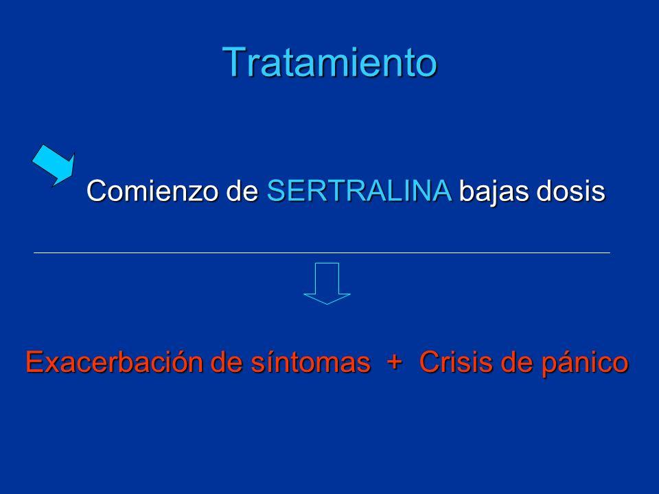 Tratamiento Comienzo de SERTRALINA bajas dosis