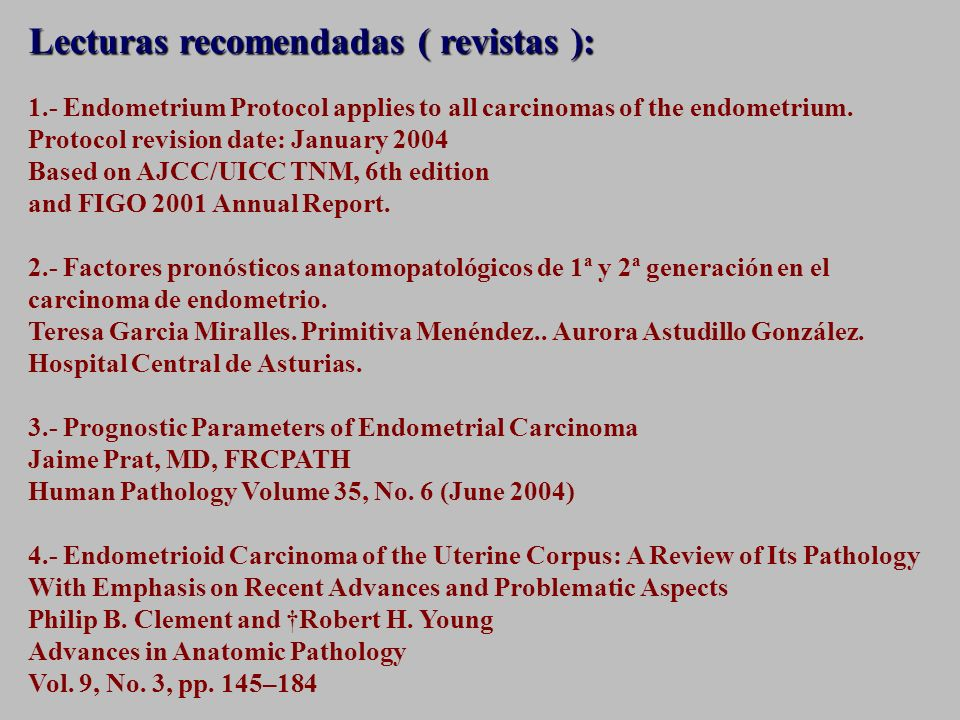 Lecturas recomendadas ( revistas ):