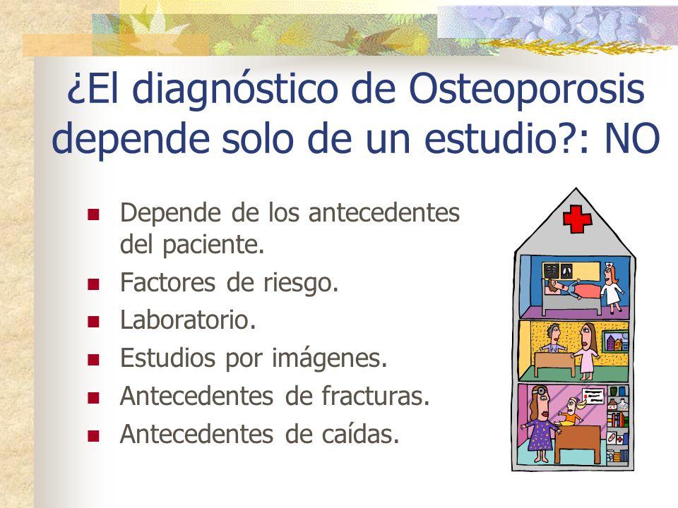 ¿El diagnóstico de Osteoporosis depende solo de un estudio : NO