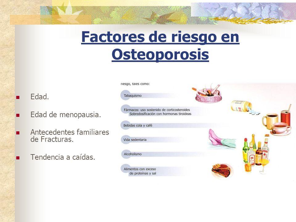 Factores de riesgo en Osteoporosis
