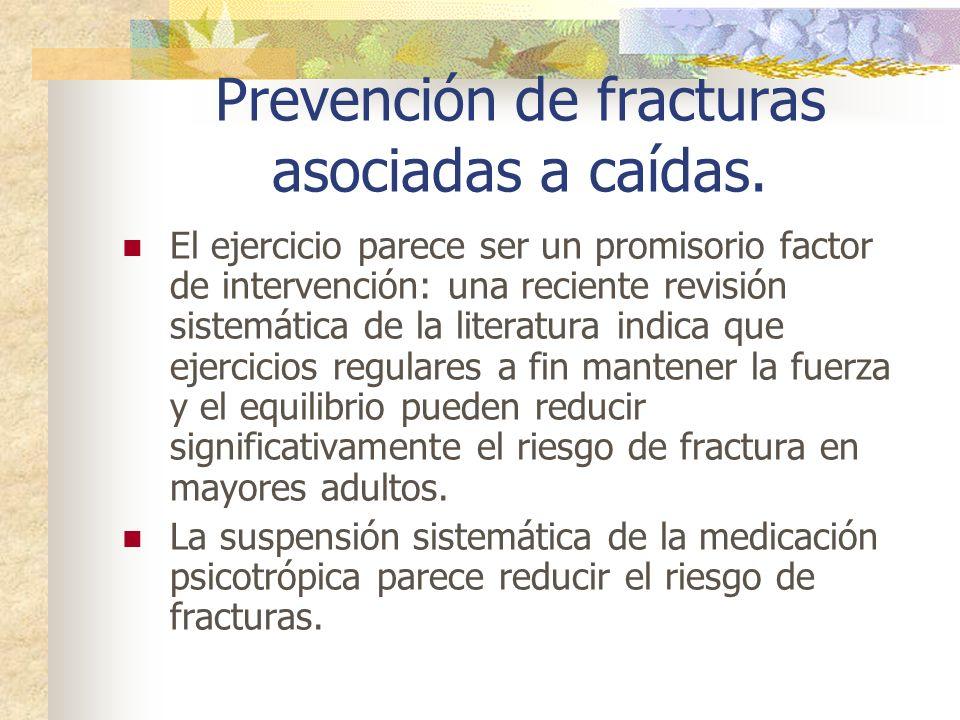Prevención de fracturas asociadas a caídas.